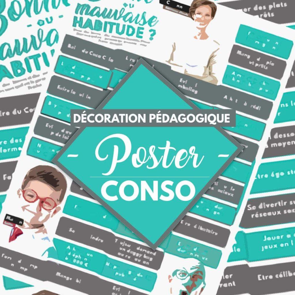 Poster pour parler de consommation.