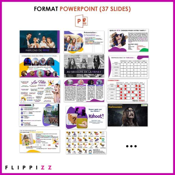 Powerpoint FLE parlons de fêtes